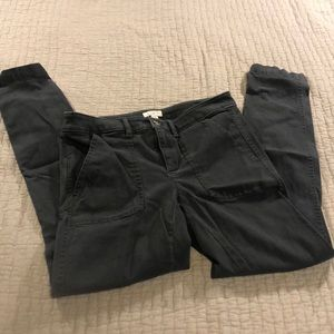Loft Modern Skinny Cargo Pocket Grey Pants
